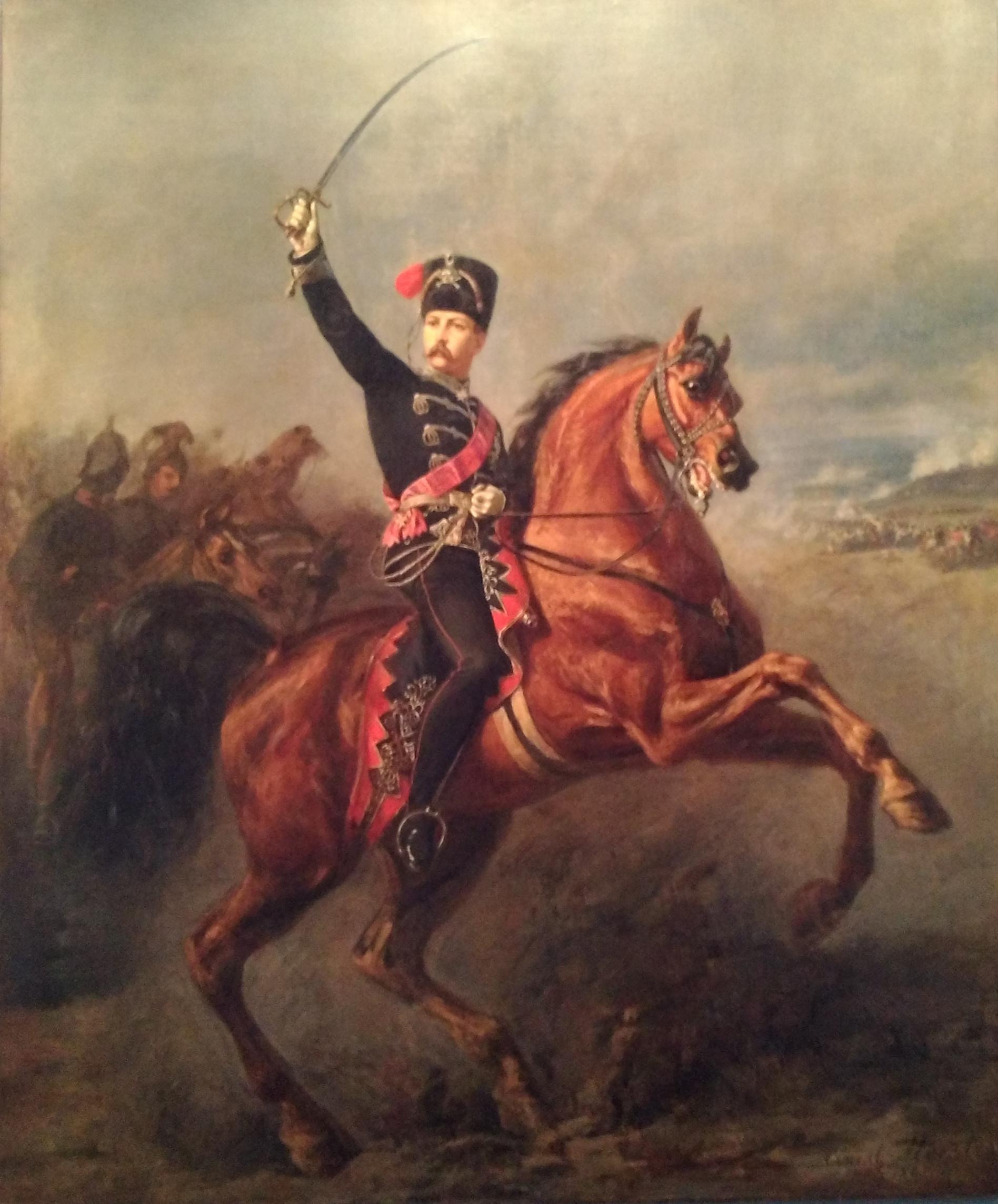 Charles de Prusse lors de la bataille de Sadowa